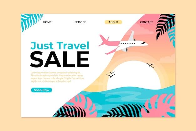 Strona Docelowa Sprzedaży Podróży Darmowych Wektorów