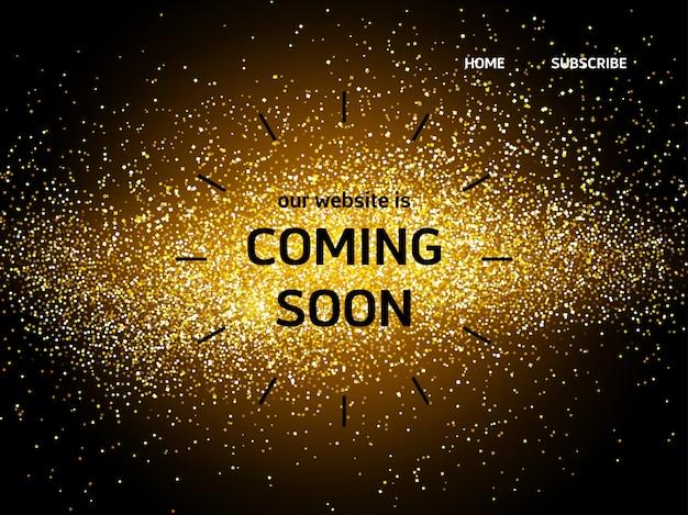 Strona docelowa strony internetowej zawierająca wkrótce słowa Darmowych Wektorów