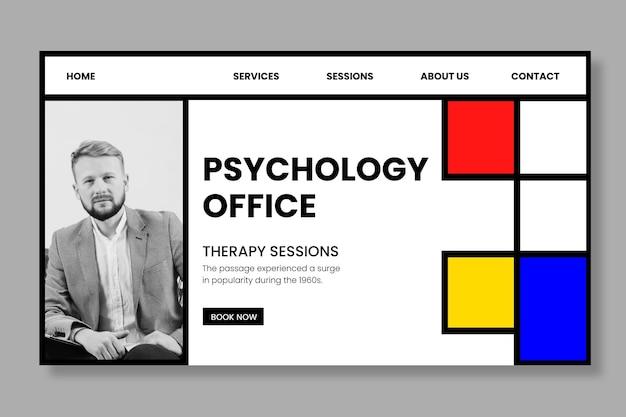 Strona Docelowa Szablonu Biura Psychologii Darmowych Wektorów