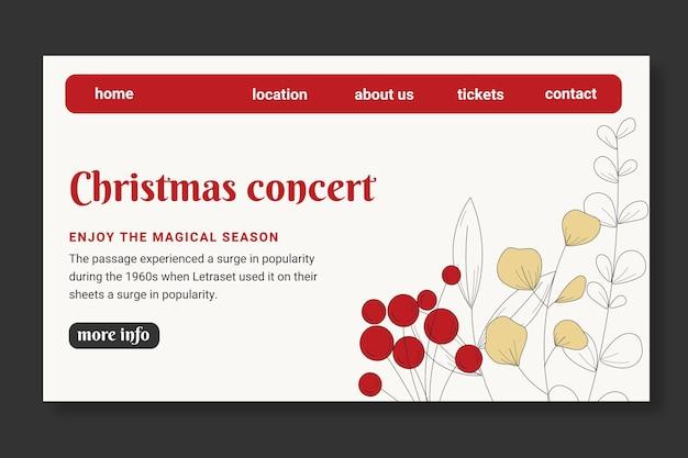 Strona Docelowa Szablonu świątecznej Sprzedaży Darmowych Wektorów