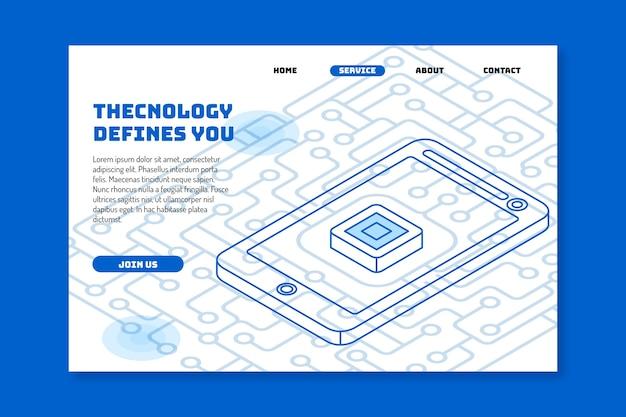 Strona docelowa szablonu technologii Darmowych Wektorów