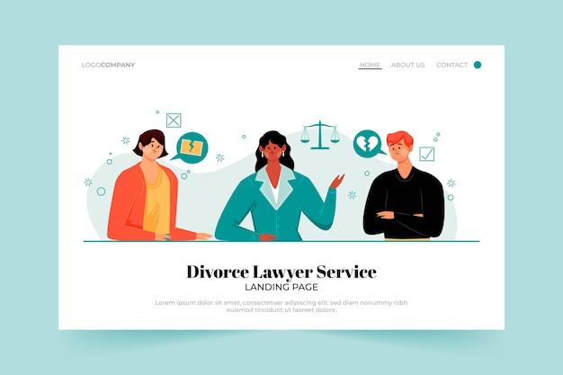 Strona Docelowa Usługi Rozwodu Adwokata Darmowych Wektorów
