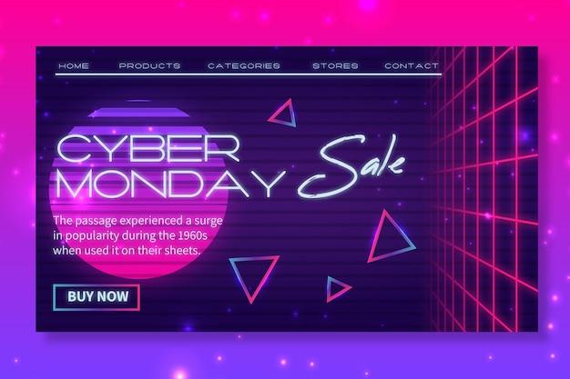 Strona Docelowa W Cyber Poniedziałek Darmowych Wektorów