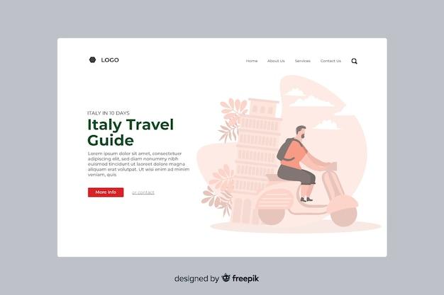 Strona Docelowa Włoskiego Przewodnika Turystycznego Darmowych Wektorów