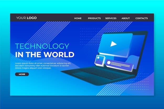 Strona docelowa z szablonem laptopa Darmowych Wektorów