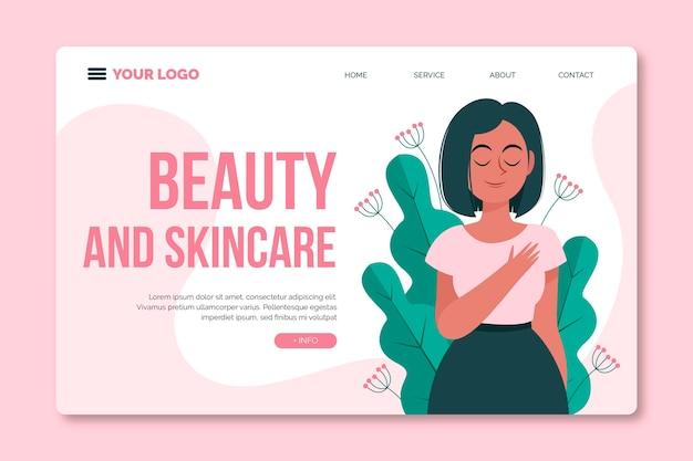 Strona Docelowa Zabiegów Kosmetycznych Premium Wektorów