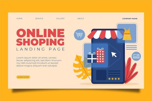 Strona Docelowa Zakupów Online Darmowych Wektorów