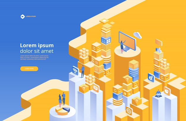 Strona docelowa zespołu analityki seo Premium Wektorów
