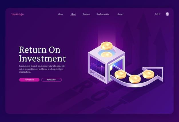 Strona Docelowa Zwrotu Z Inwestycji Darmowych Wektorów