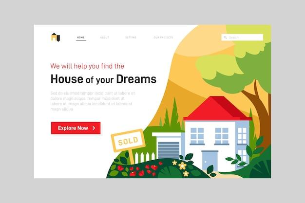 Strona Internetowa Dotycząca Nieruchomości Darmowych Wektorów