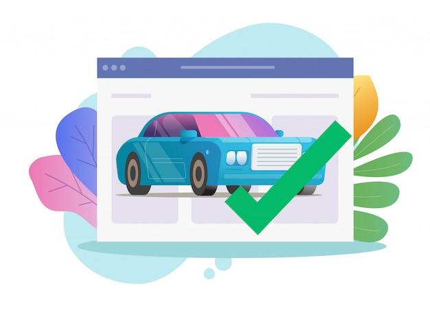 Strona Internetowa Kontroli Bezpieczeństwa Monitorowania Diagnostycznego Pojazdu Premium Wektorów
