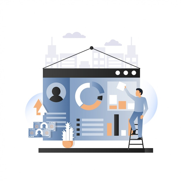 Strona Internetowa Rozwój Usługuje Pojęcie Wektoru Ilustrację Premium Wektorów
