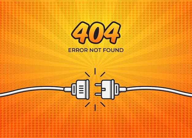 Strona komiksu 404 nie znaleziono strony Premium Wektorów
