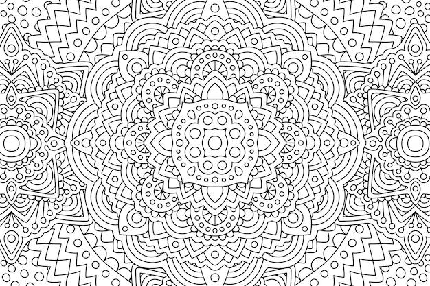 Strona Ksiazki Kolorowanki Dla Doroslych Z Liniowym Wzorem