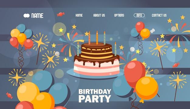 Strona Z Okazji Urodzin, Premium Wektorów
