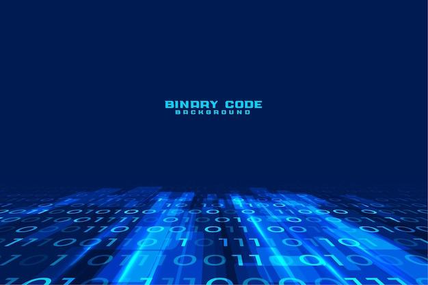 Strumień Danych Cyfrowy Kod Binarny Tło Darmowych Wektorów