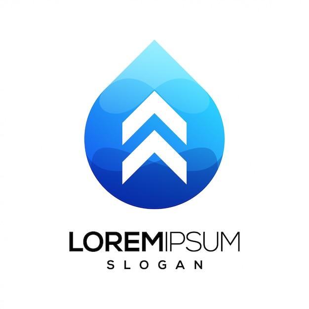 Strzałka Kolorowe Logo Gradientu Premium Wektorów