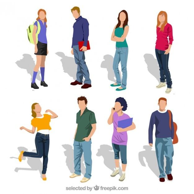 Studenci nastolatek Darmowych Wektorów