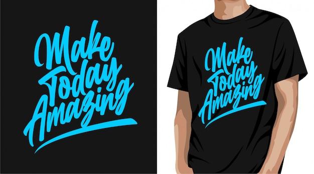 Stwórz Dziś Niesamowity Projekt Koszulki Premium Wektorów