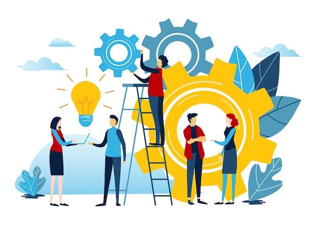 Stworzyć Pomysł Na Sukces. Premium Wektorów