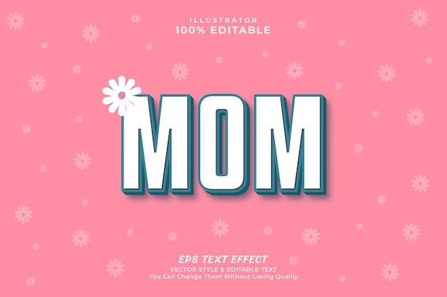 Styl Efektu Tekstu Na Dzień Matki Z Tłem, Premium Premium Wektorów