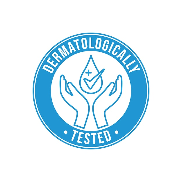 Styl Etykiety Sprawdzony Dermatologicznie Darmowych Wektorów