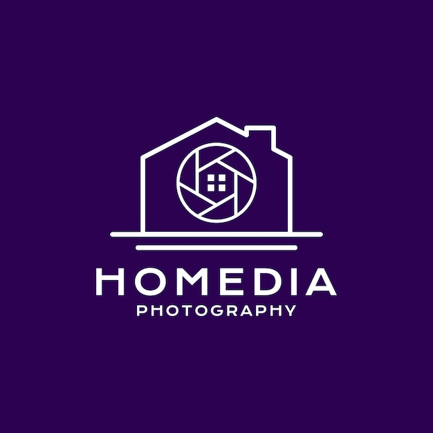 Styl fotografii domowej logo Premium Wektorów