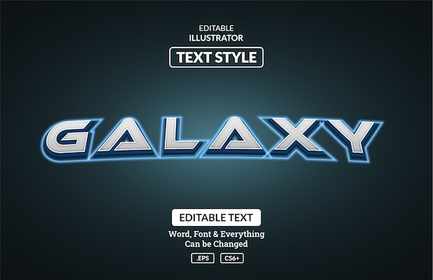 Styl Galaktyki Kosmicznej, Edytowalny Efekt Tekstowy Premium Wektorów