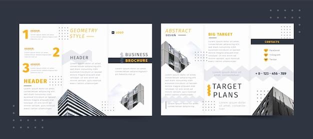 Styl Geometryczny Broszury Biznesowej Darmowych Wektorów