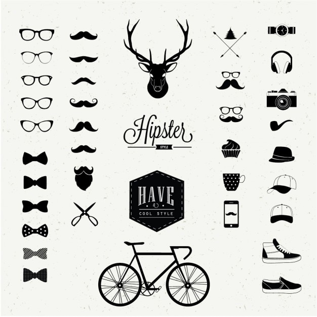Styl hipster Darmowych Wektorów