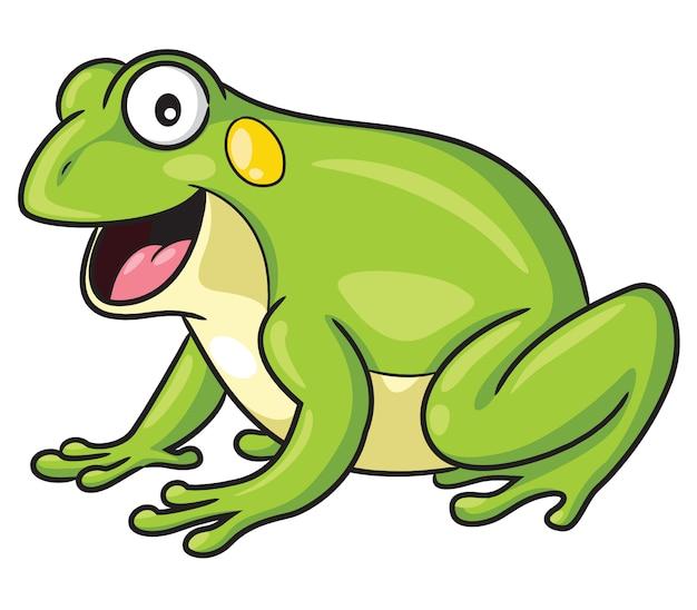 Styl kreskówki żaby Premium Wektorów
