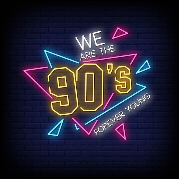 Styl neonów z lat 90 Premium Wektorów