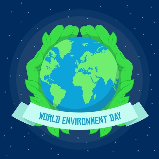 Styl Obchodów światowego Dnia środowiska Darmowych Wektorów