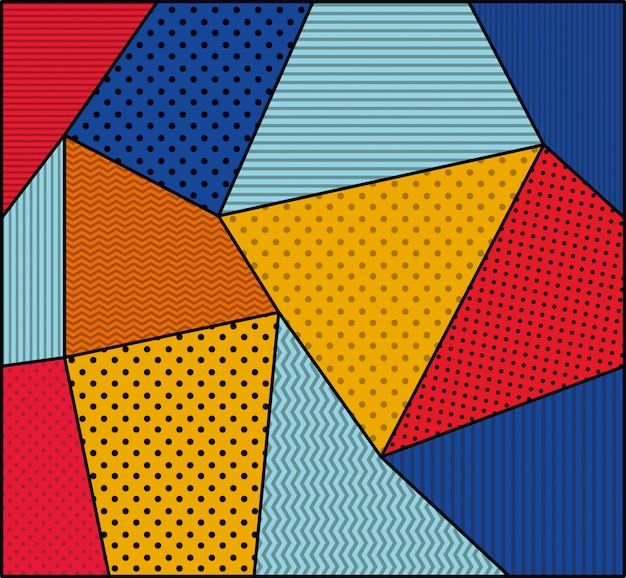 Styl pop-artu z kropkami i kolorami Darmowych Wektorów
