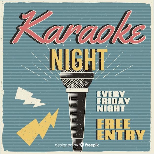 Styl retro szablon transparent karaoke Darmowych Wektorów