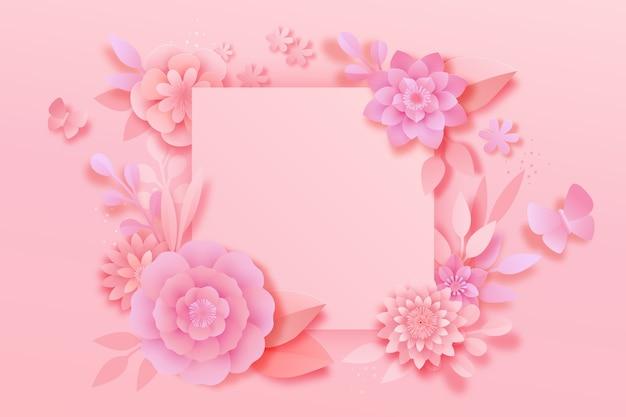 Styl Różowy Tło Wiosna Papieru Darmowych Wektorów