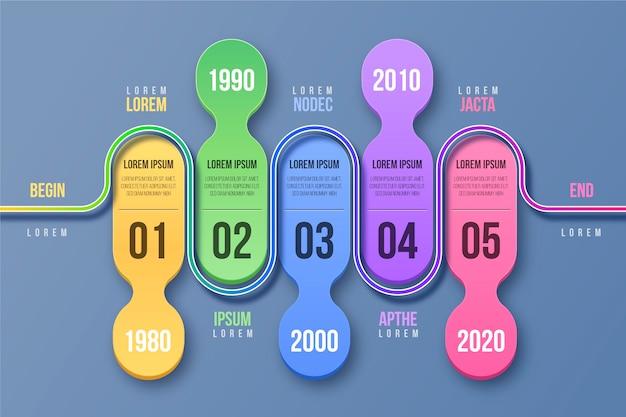 Styl Szablonu Infografiki Osi Czasu Darmowych Wektorów