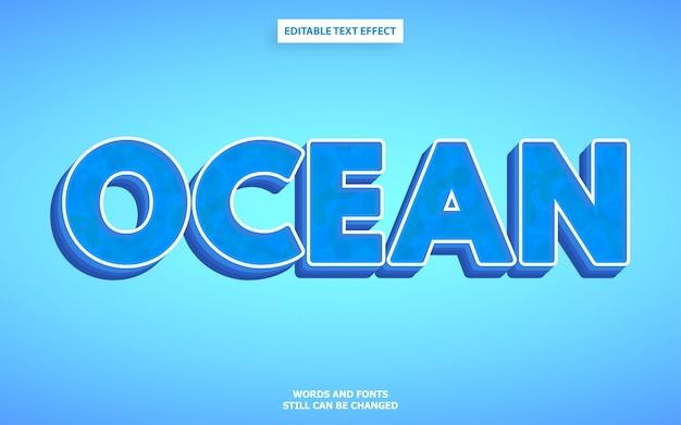 Styl Tekstu Oceanu Premium Wektorów