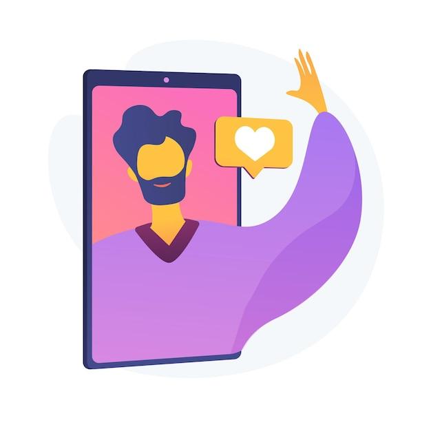 Styl życia Dla Vlogerów. Blogowanie Wideo, Interakcje W Mediach Społecznościowych, Platforma Komunikacji Cyfrowej. Wesoły Vlogger, Powitanie Influencerów, Machanie Ręką. Ilustracja Wektorowa Na Białym Tle Koncepcja Metafora Darmowych Wektorów