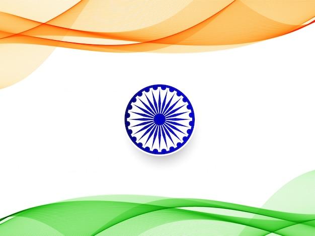 Stylowy falisty indianina wzór tła Premium Wektorów