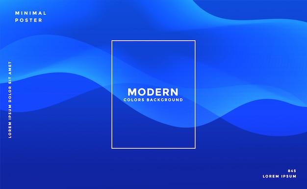 Stylowy niebieski falisty projekt banera Darmowych Wektorów