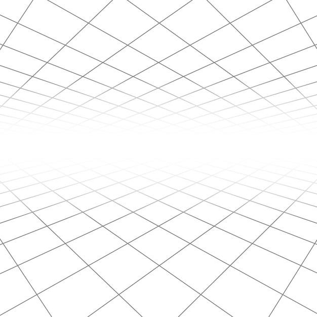 Sufitu I Podłogi Płytki Tekstura, Linie 3d W Perspektywie Wizja Streszczenie Tło Geometryczne Premium Wektorów