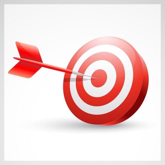 Sukces Dart, Dart W Centrum Premium Wektorów