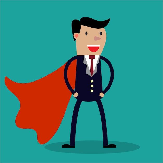 Super Biznesmen. Premium Wektorów