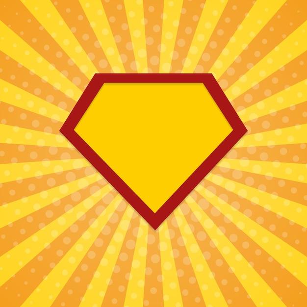 Super bohater promienie tło rastra Premium Wektorów