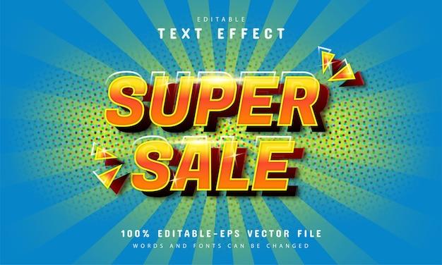 Super Komiksowy Efekt Sprzedaży Premium Wektorów