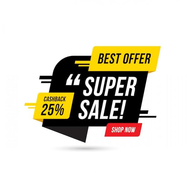 Super Oferta Sprzedaży Szablon Transparent, Oferta Specjalna Duża Sprzedaż. Banner Oferty Specjalnej Na Koniec Sezonu. Abstrakcyjny Element Graficzny Promocji. Premium Wektorów
