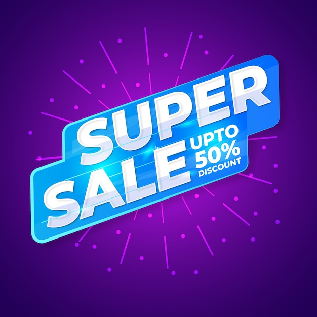 Super Sprzedaż Znak Wektor Desing Premium Wektorów