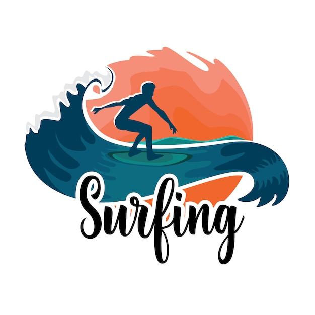 Surfing Premium Wektorów