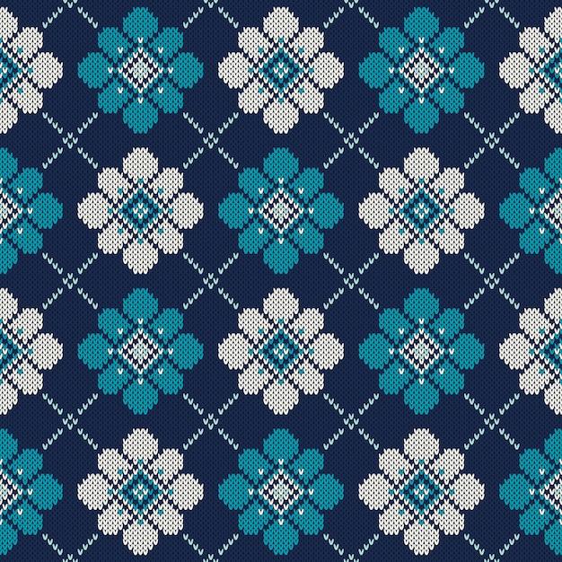 Sweter Z Dzianiny. Bezszwowe Tło. Imitacja Tekstury Dzianiny Wełnianej Premium Wektorów